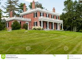 federal style house elegant brick mansion stock photo image of residential 32913304