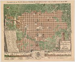 Guadalajara Mexico Map by Ciudad De Guadalajara 1800 Benson Latin American Collection
