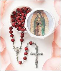 our of guadalupe rosary our of guadalupe scented wood rosary