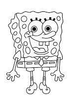 spongebob and squidward take charge of christmas coloring pages