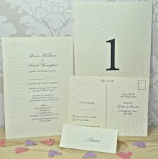 butterfly embossed wedding invitations by sweet pea design