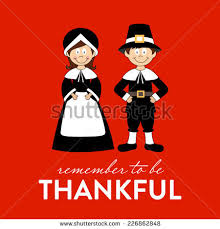 be thankful happy thanksgiving pilgrims stock vector 226862848