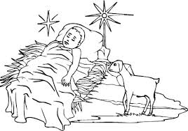 baby jesus coloring page free printable coloring pages