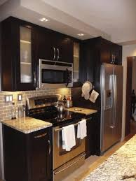 kitchen island drawers pictures of kitchens with black cabinets varnished striped wood
