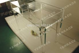 Clear Vanity Table Clear Acrylic Vanity Drawer Desk Clear Lucite Console Table In