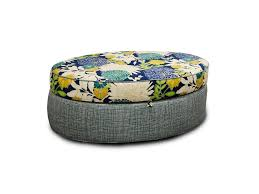 Grey Fabric Storage Ottoman Living Room Dark Glass Cube Top Coffee Table With White Leather