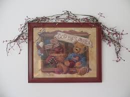 Ebay Home Interior Details About Home Interiors Country Teddy Bear Framed Print