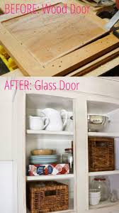 glass kitchen cabinet doors diy 15 inspiring before after kitchen remodel ideas must see