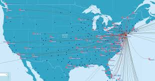 United Flight Map Flight Map Us To Europe United Continental Domestic Route Map