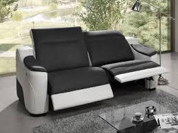 canapé électrique canapé 2 places fixe avec 2 relax électrique helly meubles atlas