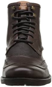 mens biker boots uk levi u0027s mens maine lace up wing tip boot boots amazon co uk shoes