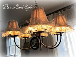 Burlap Chandelier Shades Down To Earth Style Raggy Burlap Lamp Shades