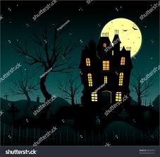 vector halloween vector halloween background haunted house stock vector 56941459