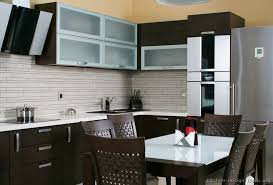 backsplash tiles for dark cabinets inspiration ideas kitchen backsplash glass tile dark cabinets