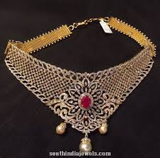 choker necklace jewelry images Diamond choker necklace for weddings south india jewels jpg