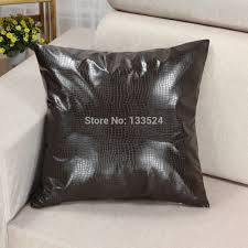 faux leather throw pillows throw pillows for brown leather couch image information