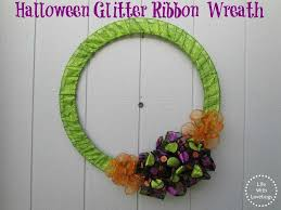halloween glitter ribbon wreath life with lovebugs