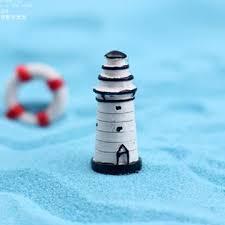 Lighthouse Garden Decor Wholesale Artificial Lighthouse Toys Fairy Garden Miniatures Gnome