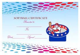 certificate softball 9 softball certificate templates
