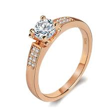 indian wedding ring aliexpress buy classic gold color high carbon imitation