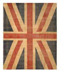 buy hand knotted wool red casual flag union jack british flag rug
