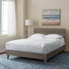 Platform Bed Frame With Headboard Furniture Barnwood Bed Frame Industrial Barnwood