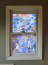 decorations awesome stained glass window film for modern home