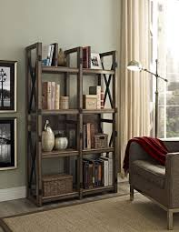 Altra Bookcase With Sliding Glass Doors by Ameriwood Furniture Altra Furniture Rustic Bookcase Room Divider
