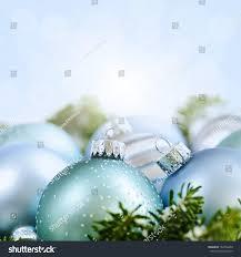 decorations ornaments blue background copy stock photo