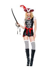 Halloween Costumes Pirate Woman Treasure Island Buccaneer Pirate Woman Costume 54 99