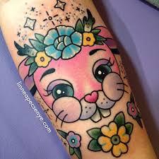cute bunny tattoo melanie martinez tattoo linnea tattoos pink