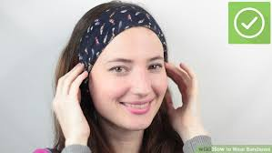 headbands that go across your forehead the best ways to wear bandanas wikihow