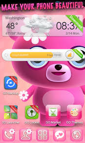 themes for android phones cute pink go launcher theme 1mobile com
