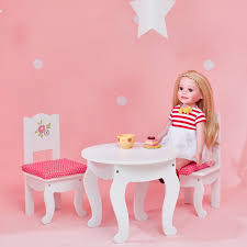 Princess Table And Chairs 18 U2033 Doll Table And Chairs Set Free Shipping Continental Usa