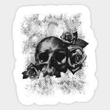 skulls and roses stickers teepublic