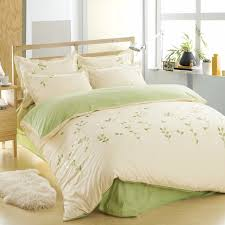Duvet 100 Cotton Aliexpress Com Buy 100 Cotton Leaf Bedding Set Green Bed Sheets