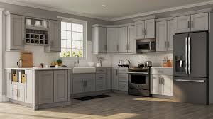 home depot custom kitchen cabinets cost shaker specialty cabinets in dove gray kitchen the home