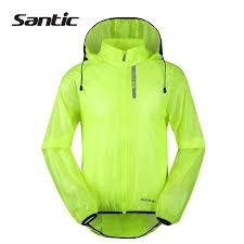 fluorescent cycling jacket santic men women outdoor sports rain jacket windproof cycling jacket