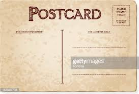 vintage postcard template vector getty images