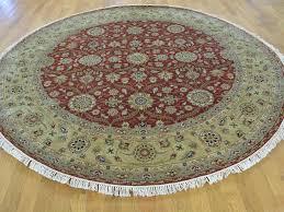 Round Persian Rug by 8 U0027x8 U0027 Hereke Design 300 Kpsi Round Wool And Silk Hand Knotted