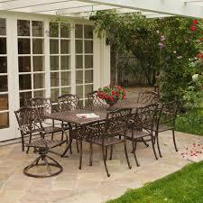 celest 9pc outdoor cast aluminum dining set w expandable table