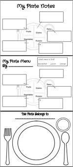 Health And Wellness Worksheets For A Great Color Your Plate Activity For Pinning Here Not For
