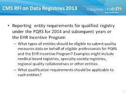 pqrs registries data intermediaries and meaningful use quality measure innovation