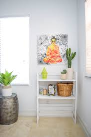 buddha inspired home decor jungalow inspired home office white hutch