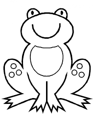 free simple frog coloring pages children cm3xv