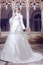 long sleeves arab wedding dresses with high neckline 1st dress com