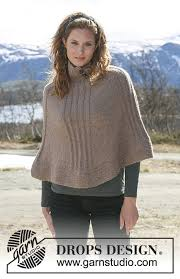 drops design poncho drops 114 32 free knitting patterns by drops design