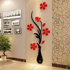 beautiful 3d flower diy mirror wall decals stickers home room