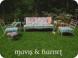 Mavis  Harriet Vintage Patio Furniture Sofa Chair  Tables - Antique patio furniture