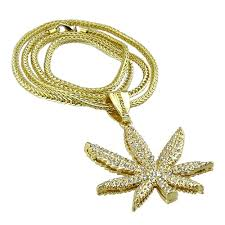 leaf chain necklace images Weed leaf gold 36 quot franco chain franco chains jpg